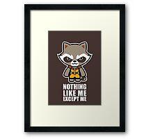 Talking Raccoon Framed Print