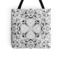 """Spirit of India: Fleur and Cross"" in white, grey and black Tote Bag"