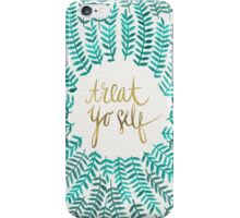 Treat Yo Self – Gold & Turquoise iPhone Case/Skin