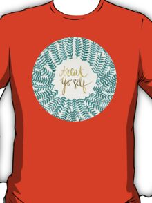 Treat Yo Self – Gold & Turquoise T-Shirt