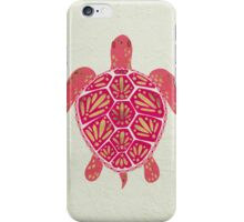 Pink & Gold Sea Turtle iPhone Case/Skin