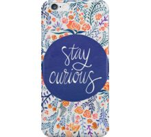 Stay Curious – Navy & Coral iPhone Case/Skin
