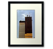 July, 1971 Construction The Twin Towers > Framed Print