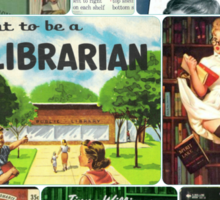 Librarians on Books Sticker