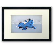 Building a Wolf Framed Print