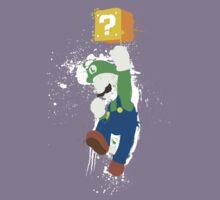 Luigi Paint Splatter Shirt Kids Clothes