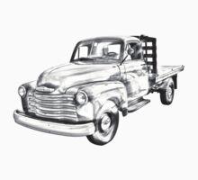 1950 Chevrolet Flat Bed Pickup Truck Illustration Kids Clothes