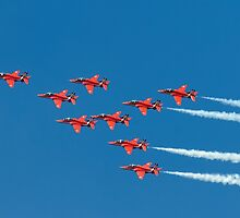 Red Arrows - Eagle Roll by © Steve H Clark