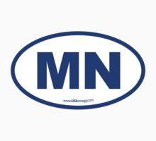 Minnesota MN Euro Oval BLUE by USAswagg