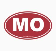 Missouri MO Euro Oval RED by USAswagg