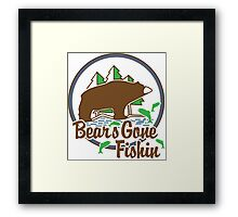Bears Gone Fishing Framed Print