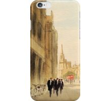 Oxford Students In The High Street iPhone Case/Skin