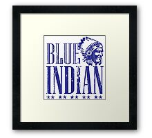 Blue Indian Framed Print