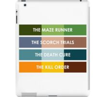 The Maze Runner Series in Basic Colors iPad Case/Skin