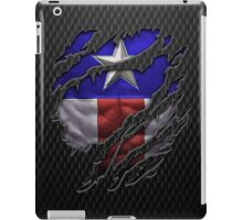 Star and stripes chest ripped torn tee iPad Case/Skin