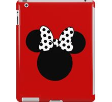 Minnie Mouse Ears with Black & White Spotty Bow iPad Case/Skin