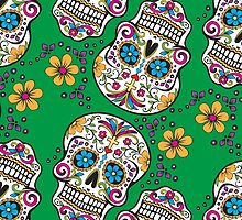 Sugar Skull GREEN by HolidaySwagg