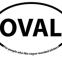 Vague Oval Sticker by Christopher Kapp
