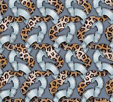 Leopards'n Lace - Blue by BonniePhantasm