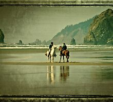 Riding Horses On The Beach by thomr