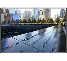 9/11 Memorial in NYC Photographic Print