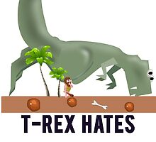 t-rex hates pushups by Alan Craker