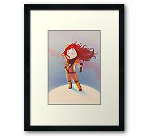 The Girl Wonder Framed Print