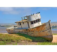 Beached - Point Reyes Tug Photographic Print