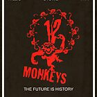 12 Monkeys Vintage Movie Poster by FinlayMcNevin