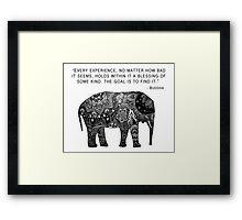 Buddha Wisdom Elephant Framed Print