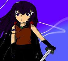 Anime swordfighter by yaminochikara