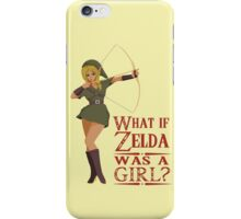 What if Zelda was a girl? (it's a joke) iPhone Case/Skin