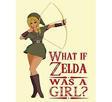 What if Zelda was a girl? (it's a joke) Photographic Print