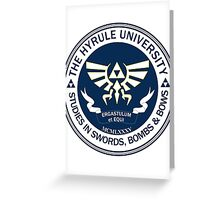 Hyrule University - Swords, Bombs & Bows Greeting Card