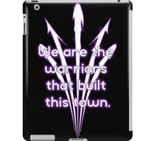 Warriors purple team iPad Case/Skin