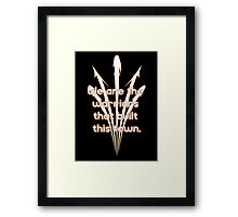Warriors Gold Framed Print