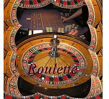 casino roulette wheel and table by Tom Conway