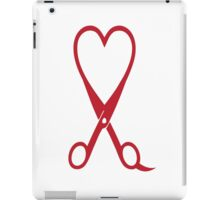 Awesome Heart and Shears Love T-Shirt for Hair Stylists iPad Case/Skin