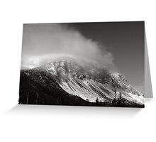 Cannon Cliffs in the Clouds Greeting Card