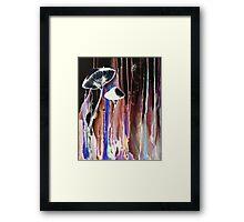 Invert Mushrooms Framed Print