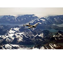 Lancaster over Greenland Photographic Print