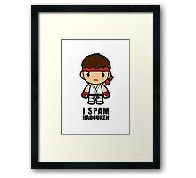 I Spam Hadouken Framed Print