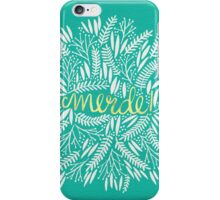Pardon My French – Turquoise & Gold iPhone Case/Skin
