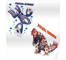 Primal Groudon & Primal Kyogre Poster