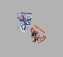 Primal Groudon & Primal Kyogre by Kiuuby