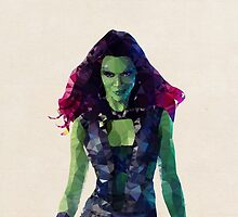 Gamora from Guardians of the Galaxy by pop-lygons