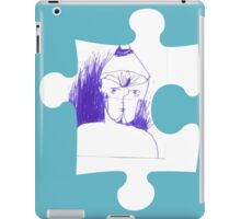 Blue sketch on a puzzle piece iPad Case/Skin