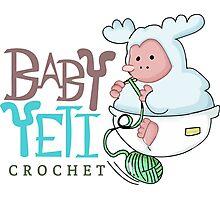Baby Yeti Crochet Photographic Print