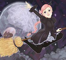 Rhiannon: Witch Cadet Diamond Sky by kaitquefait