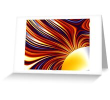 Color & Form Abstract - Solar Gravity and Magnetism 1 Greeting Card